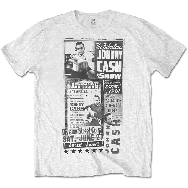 Johnny Cash - The Fabulous Johnny Cash Show Unisex XX-Large T-Shirt - White