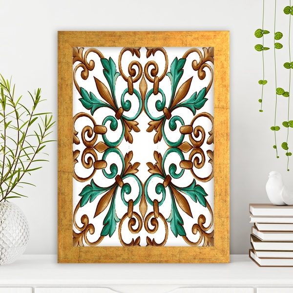 AC4821034123 Multicolor Decorative Framed MDF Painting