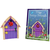 Purple Fairy Door With Ladybird