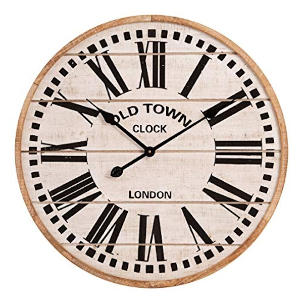 Hometime White Wall Clock Roman Dial 60cm