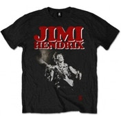 Jimi Hendrix Block Logo Mens Blk T Shirt: Medium