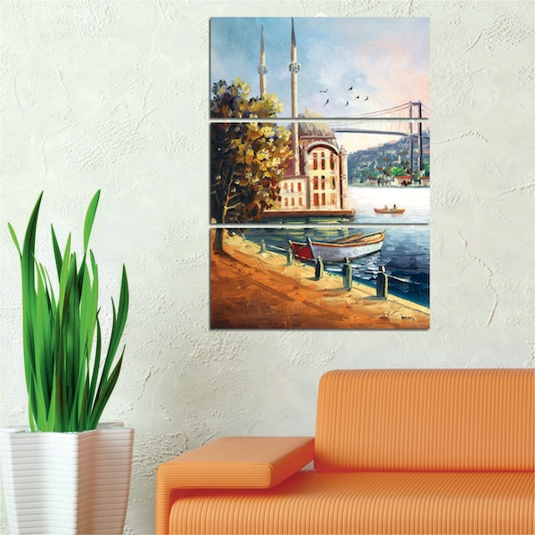 Painted Scene Decorative MDF Painting (3 Pieces)