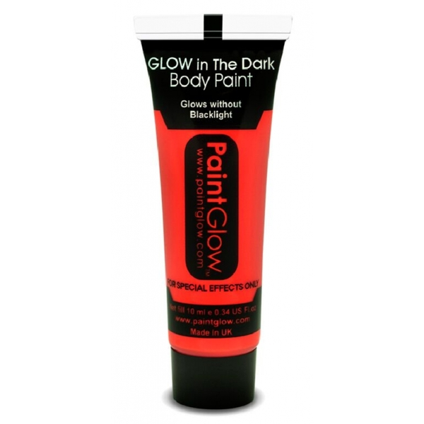 Paintglow Glow In The Dark Body Paint (Red)