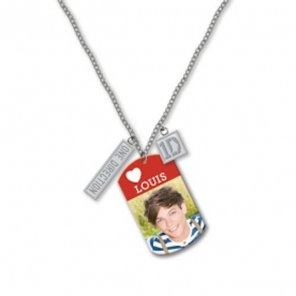 One Direction (1D) 16 Inch Tag Necklace - Louis