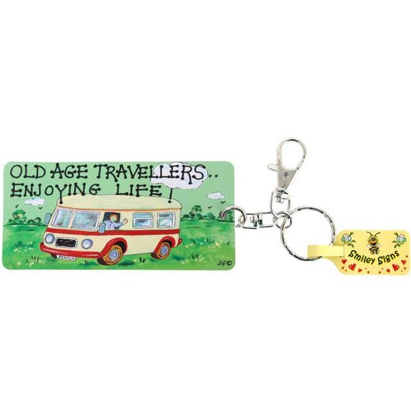 Pack of 6 Old Age Travellers Key Rings
