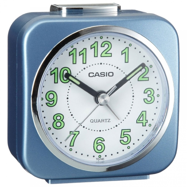 Casio Alarm Clock with Light and Snooze Blue