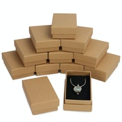 Kraft Boxes - 24 Pack | Pukkr (Necklace Size)