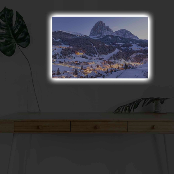 4570KARDACT - 035 Multicolor Decorative Led Lighted Canvas Painting