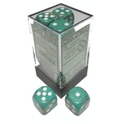 Chessex 16mm D6 Dice Block: Marble Oxi-Copper with White