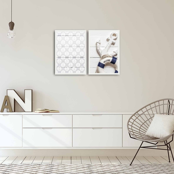 2PBCT-07 Multicolor Decorative Framed MDF Painting (2 Pieces)