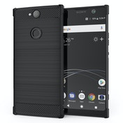 CASEFLEX SONY XPERIA XA2 PLUS CARBON ANTI FALL TPU CASE - BLACK