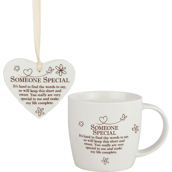 Said with Sentiment Ceramic Mug & Heart Gift Sets Someone Special