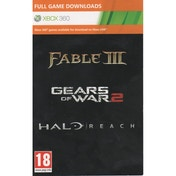 Halo Reach + Gears Of War 2 + Fable 3 (Download Full Game Code) Xbox 360