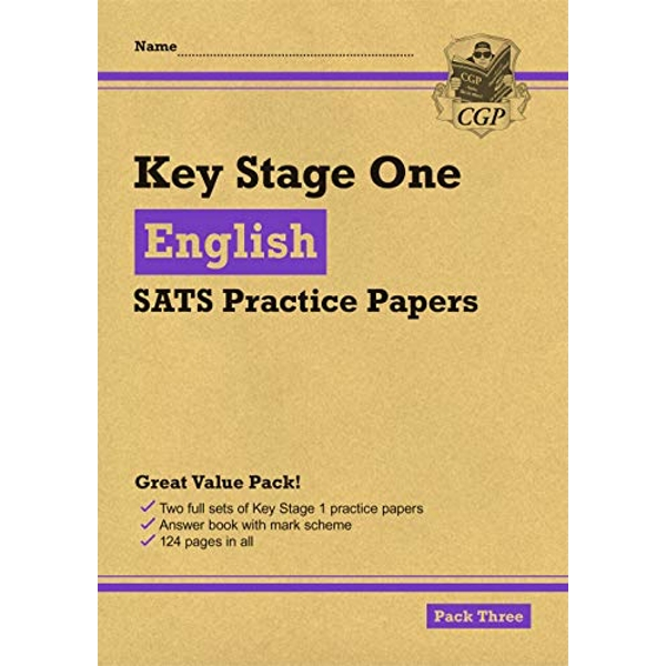 New KS1 English SATS Practice Papers: Pack 3 (for the 2021 tests)  Paperback / softback 2018