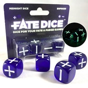 Fate Dice: Midnight Dice (4 Dice)