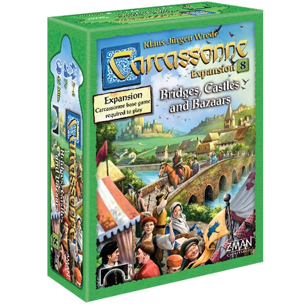Carcassonne: Expansion 8 - Bridges, Castles and Bazaars Board Game