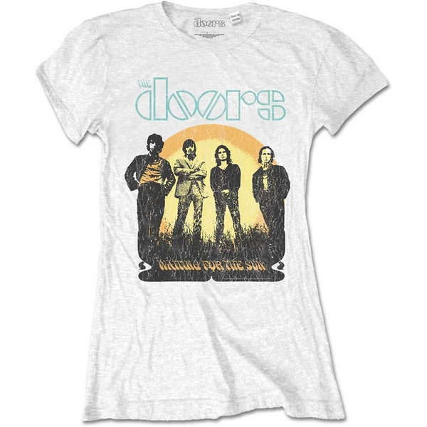 The Doors - Waiting for the Sun Women's XX-Large T-Shirt - White