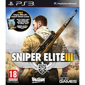 Sniper Elite III 3 with Hunt the Grey Wolf DLC PS3 Game (with Desert Ghost Comic)