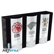 Game Of Thrones - House Glasses (Set of 3)