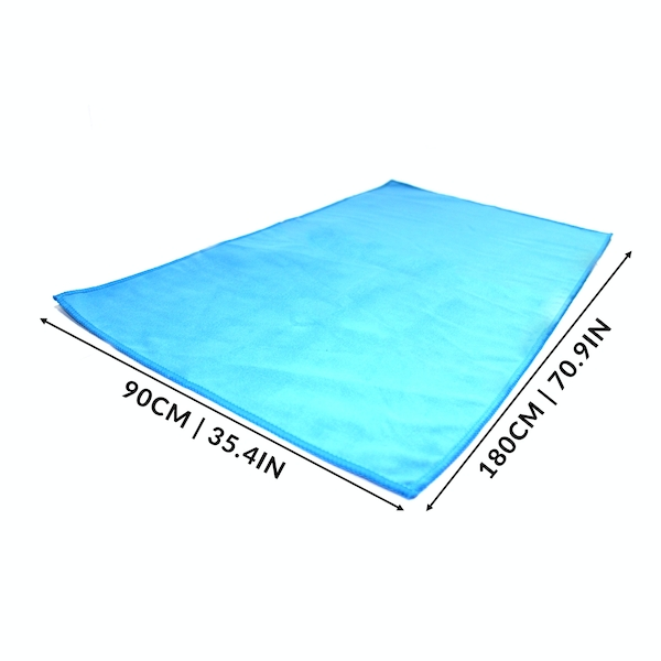 Quick Drying Microfiber Towel | Pukkr Blue Large (90x180cm)