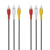 Belkin 3x RCA Male/ Male AV Composite Cable Nickel Plated in Black 2m