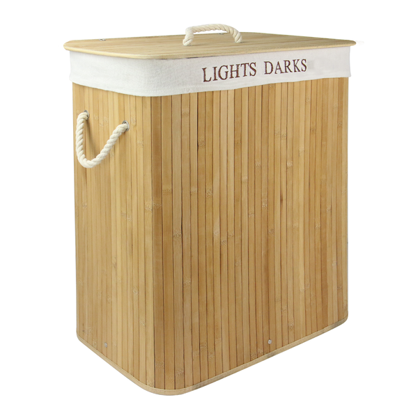 Light & Dark Bamboo Hamper | M&W