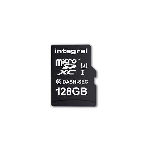 Image of Integral 128GB Micro SD Card MicroSDXC Cl10 U3 R-95 W-60 Mb/S + Adapter Dash & Security Cam