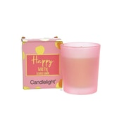 Candlelight Happy Small Wax Filled Pot Candle in Gift Box Wild Fig Scent