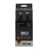 VCOM HDMI 1.4 (M) to HDMI 1.4 (M) 3m Black Nylon Braided Retail Packaged Display Cable