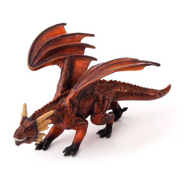 ANIMAL PLANET Fantasy Fire Dragon with Articulated Jaw Toy Figure