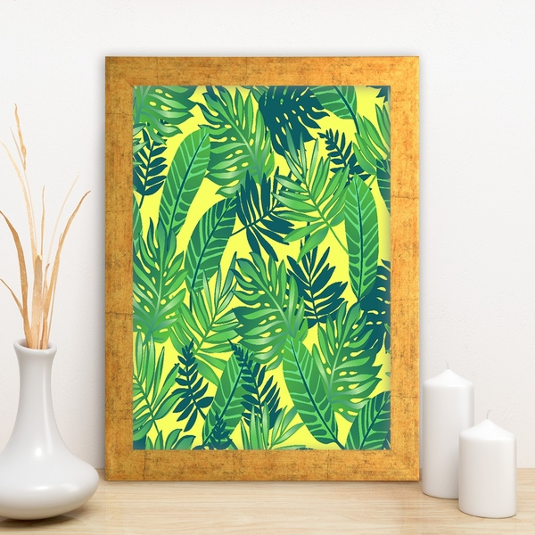 AC3906320659 Multicolor Decorative Framed MDF Painting