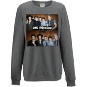 One Direction Four Ladies Grey Sweatshirt: Medium