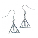 Sterling Silver Deathly Hallows Dangle Earrings