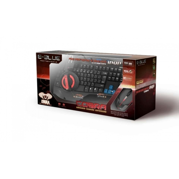 E-blue Gaming Combo Headset Keyboard & Mouse in Red