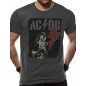 AC/DC - Angus Flash Men's X-Large T-Shirt - Grey