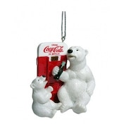 Coca Cola Polar Bear & Vending Machine Christmas Tree Decoration
