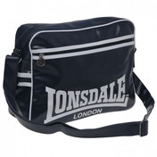Lonsdale Striped Flight Bag Navy & White