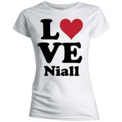 One Direction Love Niall Skinny White TS: XL