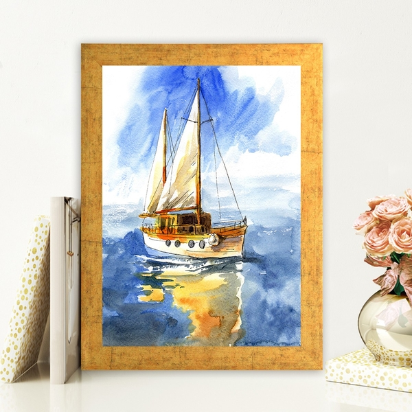 AC780192925 Multicolor Decorative Framed MDF Painting