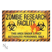 Zombie Research Facility Sign