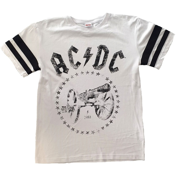 AC/DC - For Those About to Rock American Football Style Unisex X-Large T-Shirt - White