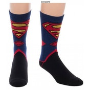 Superman Logo Knitted One size Socks - Blue & Black