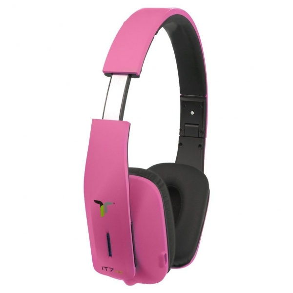it7x2 foldable wireless bluetooth headphones with near field communication nfc pink. Black Bedroom Furniture Sets. Home Design Ideas