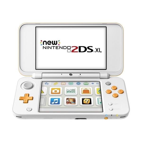 Nintendo 2DS XL Handheld Console White and Orange UK Plug - Image 2