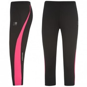 Karrimor Run Capri Tights Ladies Black And Pink Size 10