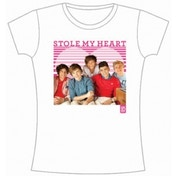 One Direction 1D Stole My Heart Skinny White TS: Large