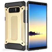 Caseflex Samsung Galaxy Note 8 Armoured Shockproof Carbon Case - Gold