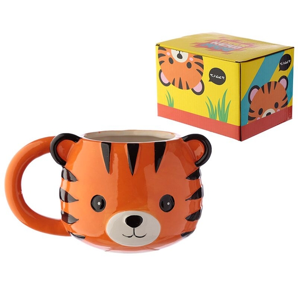 Tiger Ceramic Animal Shaped Head Mug