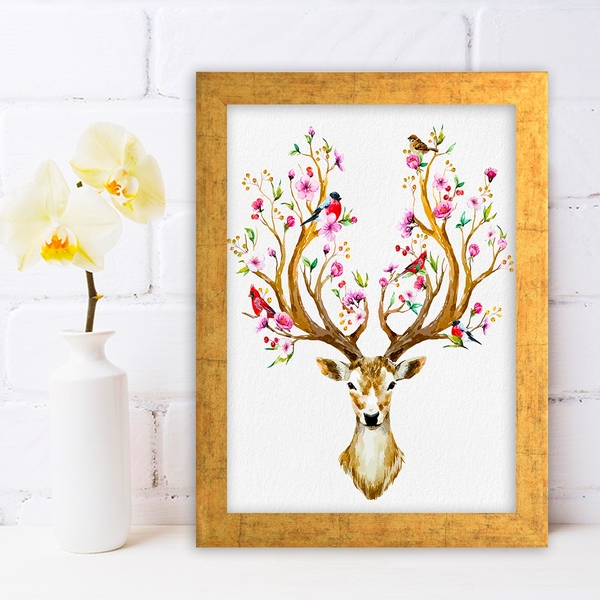 AC465391667 Multicolor Decorative Framed MDF Painting