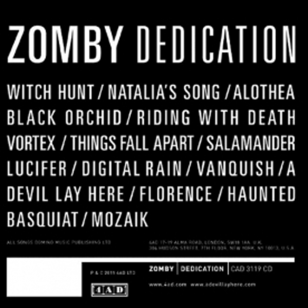 Zomby - Dedication CD